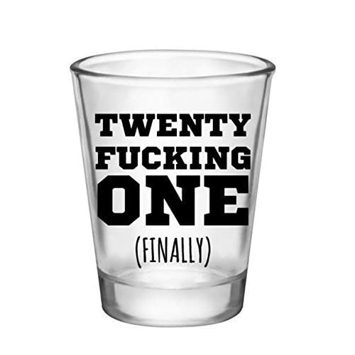 21st Birthday Shot Glass Novelty Gifts For Party 21 Year