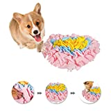 """GoFika Small Dogs Slow Feeding Snuffle Foraging Mat Cloth for Puppies and Pets (14"""" x 11.8"""") Interactive Puzzle Feeder for Stimulation and Nosework (Pink)"""
