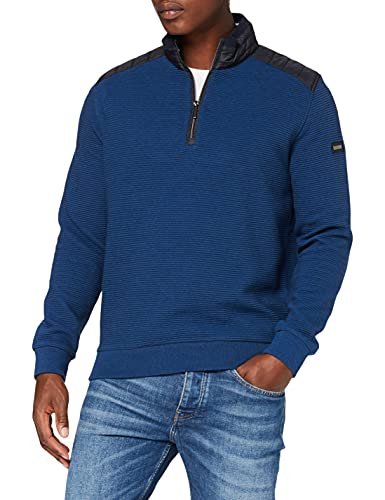 bugatti Herren Troyer Sweatshirt, blau, XL