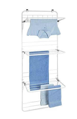 Wenko Über-Tür Wäschetrockner - Wäscheständer, zum Hängen, 51 x 142 x 41 cm, weiß