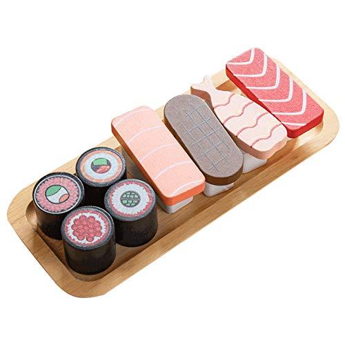 wivarra Cocina para Ni?Os SimulacióN de Comida en Miniatura Sushi 3D Juego de SimulacióN MagnéTico DIY Juegos de Madera Juguetes para Ni?As Juego de Cocina