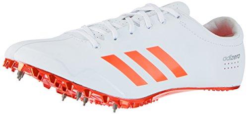 adidas Adizero Prime Sprint, Zapatillas de Atletismo Unisex Adulto, Blanco (FTWR White/Solar Red/Silver Metallic), 38 EU