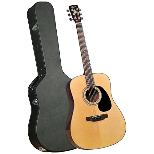 Bristol BD-116 BD-16 Dreadnought Acoustic Guitar and Hardshell Case