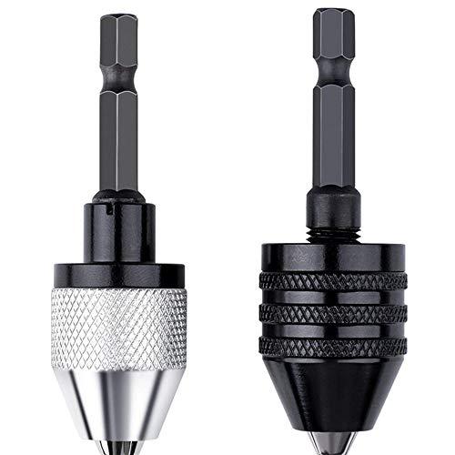 chiave mandrino da 13 mm 5 pezzi da 1,5-13 mm con chiave di precisione per trapano e mandrino con adattatore da 1//2 martello avvitatore a percussione attacco SDS-Plus da 1//2