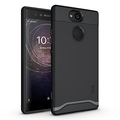 TUDIA Sony Xperia XA2 Case, Slim-Fit Heavy Duty [Merge] Extreme Protection/Rugged but Slim Dual Layer Case for Sony Xperia XA2 (Matte Black)