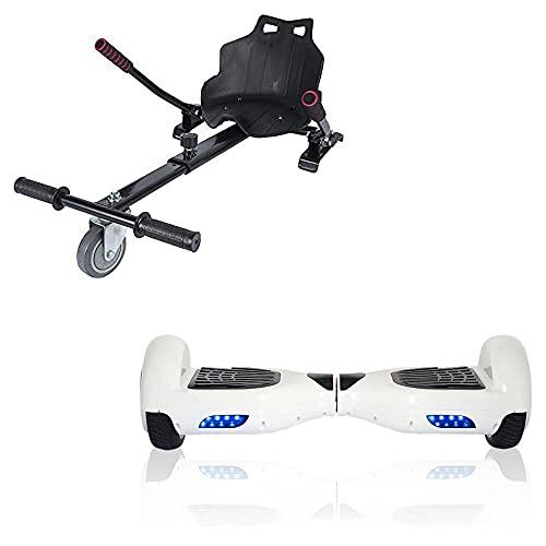 ACBK Hoverboard Tango con Kart Silla, Juventud Unisex, Blanco, Ruedas 6.5'