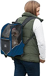 Pet Gear I-GO2 Sport Roller Backpack for cats and dogs, Misty Blue by Pet Gear