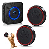ChunHee Wireless Dog Doorbell, Doggie Doorbell for Potty Training, IP65 Waterproof Touch Button Dog Bells 52 Melodies, 1 Receiver+2 Transmitters