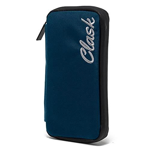 CLASK Funda móvil para Ciclismo Resistente en 3 Colores e Ideal para Llevar en el Maillot como Cartera con Cremallera para Proteger Las pertenencias (Azul Marino)