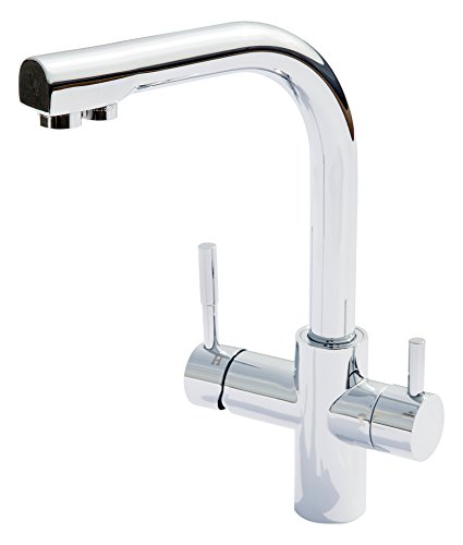 Carbonit Wasserhahn WS7 Küchenarmatur für Wasserfilter DUO und VARIO 3 Wege Wasserhahn mit separatem Auslauf