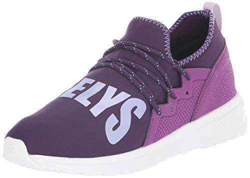 HEELYS Girl's Navigator Tennis Shoe, Grape/Lilac, 1 M US Big Kid