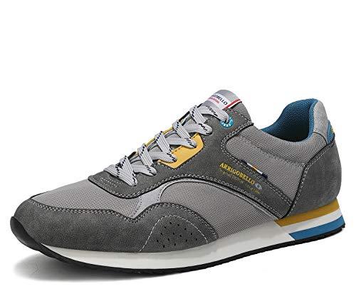 ARRIGO BELLO Zapatillas Deportivas Hombre Running Zapatos Vestir Casual Transpirables Sneakers Gimnasio Correr Tamaño 40-46 (44 EU, Gris Oscuro)