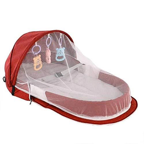hinffinity Lit De Bébé Portable Bionique Baby Sleeping Pods Isolation Extérieure De La Sécurité du Bébé en Plein Air Lit Pliant avec Moustiquaire, Nid Bébé Snuggle (0-2 Ans)