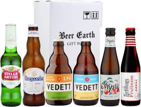 ベルギービール 飲み比べ6本 Bセット【ヴェデット/リーフマンス/ミスティック/ヒューガルデンホワイト】専用ギフトボックスでお届け