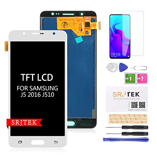 Screen Replacement for Samsung Galaxy J5 2016 J510 J510F,J510FN LCD Display Touch Digitizer Panel Full Assembly Adjustable Brightness (NOT AMOLED)