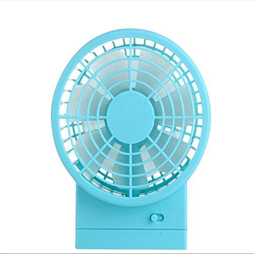 Miaoge USB ventilator creatieve lading dubbele blad ventilator mini ventilator desktop draagbare kleine ventilator 10 * 8.5 * 13.5cm C