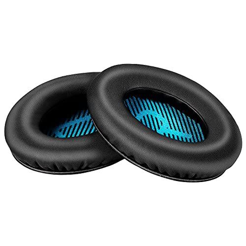 Yizhet Almohadillas Auriculares Compatible con Auriculares Bose QuietComfort 35 QC15 QC25 QC2 QC35, Ae2 Ae2i Ae2w, SoundTrue, SoundLink, 1 Par Cascos Almohadillas para Auriculares Bose QC (Azul)