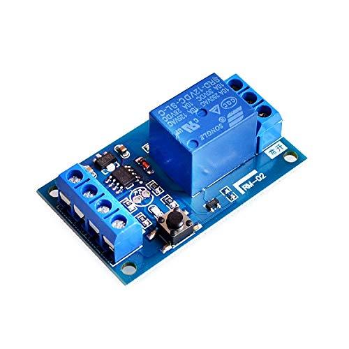 ARCELI 12V Bond Interruptor biestable Módulo de relé Interruptor de modificación de automóvil Una tecla Iniciar y Detener el Bloqueo automático