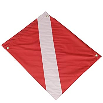 Seachoice 78231 Vinyl Diver Down Flag with Removable Stiffener – 20 x 24 Inch – Warn Boaters When Diving