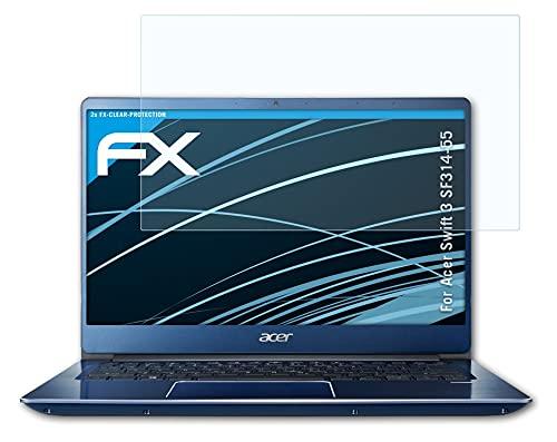 atFolix Schutzfolie kompatibel mit Acer Swift 3 SF314-55 Folie, ultraklare FX Bildschirmschutzfolie (2X)