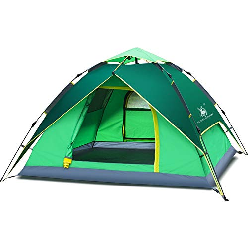 NBNBN Camping Tents for Family Camping Tent With Handbag Green 3-4 People Camping Tent with Carry Bag and Quick Set-up (Color : Green, Size : M)