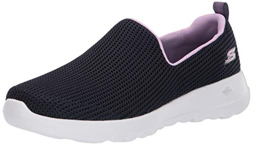 Skechers Women's Go Walk Joy-Centerpiece Slip On Trainers, Blue (Navy Lavender Nvlv), 5 UK 38 EU