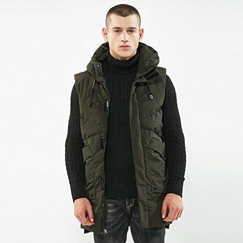 Les Hommes est Long Manteau, Veste, Hiver et l'hiver pac, Mode Chaleureux, Long Manteau,vert,XL