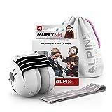 Alpine Muffy Baby Orejeras para bebés - Orejeras para bebés y niños de hasta 36 Meses - Previene daños auditivos - Mejora el sueño en Movimiento - fácil de Ajustar - Negro