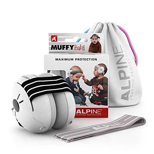 Alpine Muffy Baby gehoorbescherming voor baby's en peuters tot 36 maanden - Voorkomt gehoorbeschadiging - Verbetert de slaap onderweg - Comfortabele pasvorm - Zwart