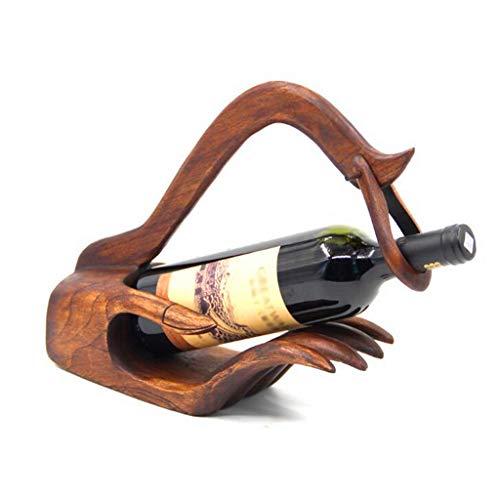 Yuzhijie Botellero de madera para vino de la vitrina del vino de la vit