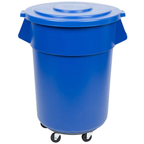 Review 55 Gallon Blue Ingredient Bin with Lid and Dolly. Use as storage for dry dogs food, long term...
