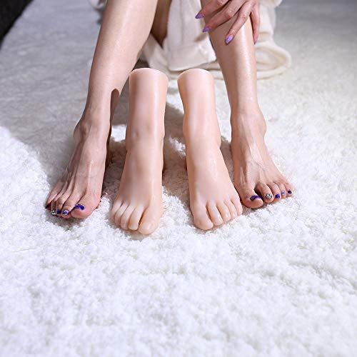 AFYH Silikon Füße Modell, 1: 1 Simulation Fußmodell aus realistischen schönen Füßen sexy weibliche Füße Modell Simulation Textur Fußmodell weibliches Modell Füße 36A