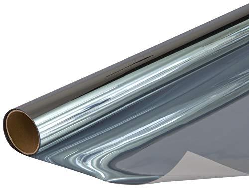 Venilia Sonnenschutzfolie getönt, Fensterfolie schützt VOR Sonneneinblendung, 100x200cm, INKL. Cutter und Schaber Vinilo Adhesivo, PVC, Ahumado, 100 x 200 cm