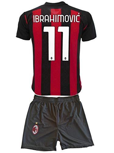 3R Sport SRL Completo Milan Zlatan Ibrahimovic 11 Réplica autorizada para niño (tallas - años 2, 4, 6, 8, 10, 12) Adulto (S M, L, XL) (XL Adulto)