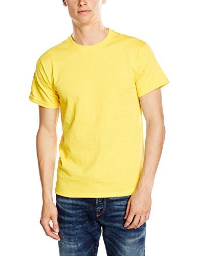 Fruit of the Loom Heavy Cotton Tee Shirt, T-Shirt Uomo, Giallo, Medium