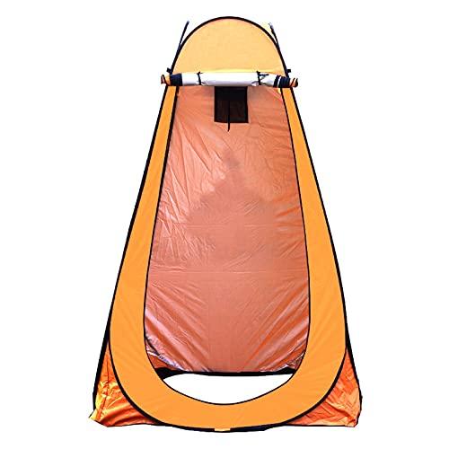 JQAM Tienda de campaña para baño emergente, Tienda de privacidad para Ducha portátil con Bolsa de Transporte Adecuada para Playa al Aire Libre, Tiendas de campaña con Dosel (Color : Orange)