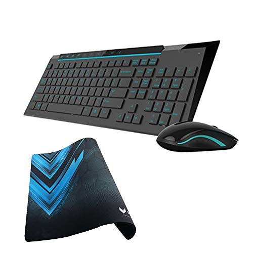 XWY Wireless Keyboard and Mouse,Multimedia 2.4G Bluetooth Silent Keyboard Mouse Combos DPI...