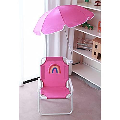 DYCLE Tumbonas para niños, sillas Plegables para niños para jardín al Aire Libre, Patio, Playa, Silla de Camping con sombrilla, Adecuada para niños de 0 a 8 años