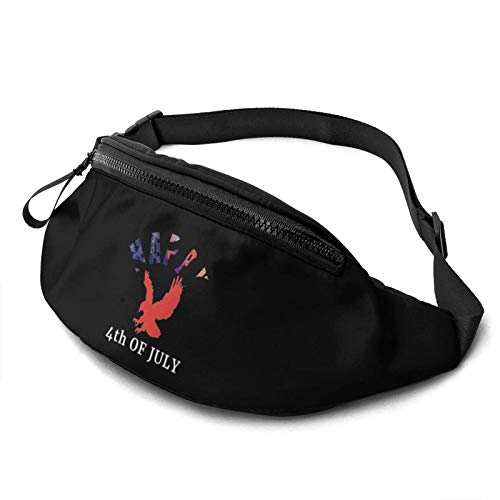 DJNGN Pack for Men Women,Happy 4th of July Casual Outdoor Waist Bag for Workout Travel Hiking