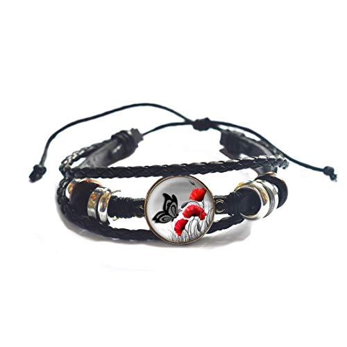 Pulsera de mariposa y libélula,Pulsera de animales pulsera mariposa joyería,Pulsera minimalista encanto pulsera # 112