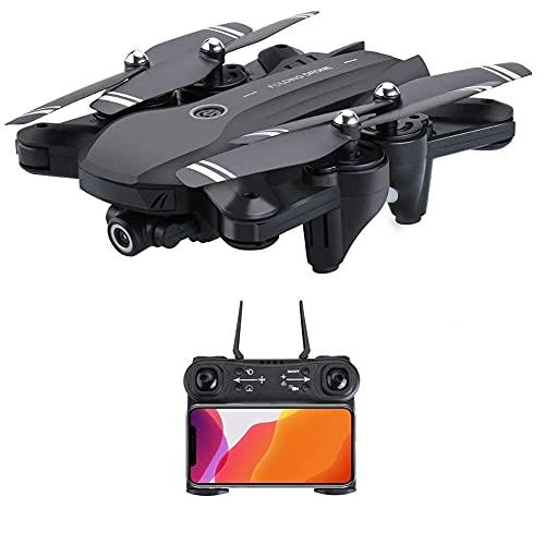 YYAI-HHJU Drone GPS, Drone 4K HD Camera, Drone Pieghevole per Principianti E Adulti, con Ritorno A Casa, Seguimi, Controllo dei Gesti, Volo in Cerchio, Hover Automatico