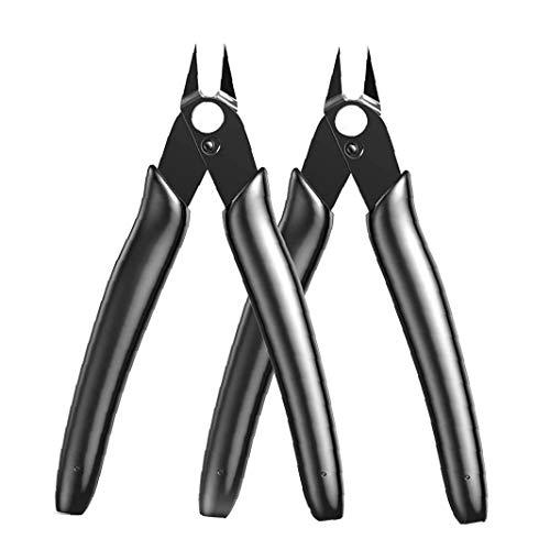 Flush Cutter 170II Tooldam Modello cesoie diagonale Pinza per Strumenti Elettronica Mano Nera flessibile