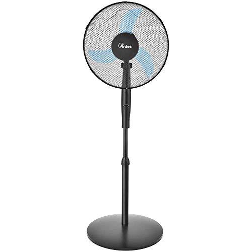 ventilatore a piantana watt Ardes AR5EA41PB Easy 41PB PLUS Ventilatore a Piantana Base Tonda 3 Pale 40 cm