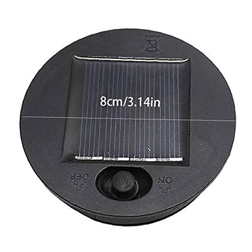 JIAWA Luces solares Reemplazo Top Top Panel Solar Tapa Linterna Bulbo Repuesto Parte 8CM 2PCS Instalaciones de jardín