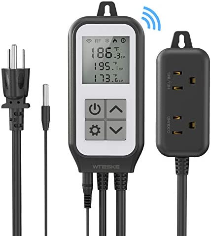 Wifi Digital Temperature Controller Thermostat Heating and Cooling Works with Alexa and Google product image