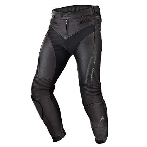 SHIMA Chase, Sport Motorradhose aus Leder mit Protektoren für Herren, Schwarz (48-58, Schwarz), Größe 54