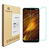 [2 Pack] Ytaland For Xiaomi Pocophone F1 Screen Protector, Tempered Glass Anti-fingerprints Thin 9H Hardness Screen Protector For Xiaomi Pocophone F1