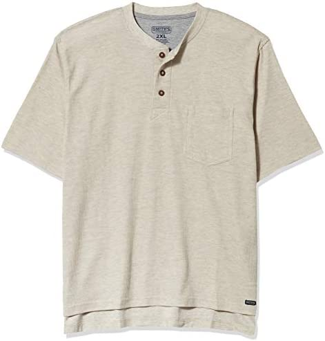 Smith s Workwear Men s Short Sleeve Mini Thermal Henley Oatmeal Heather L product image