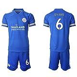 Niños Camiseta de fútbol del Jersey del fútbol Set - 6# Evans Atleta Adulto Que Entrena al Uniforme Jersey Mesh Aficionados Capucha XXL
