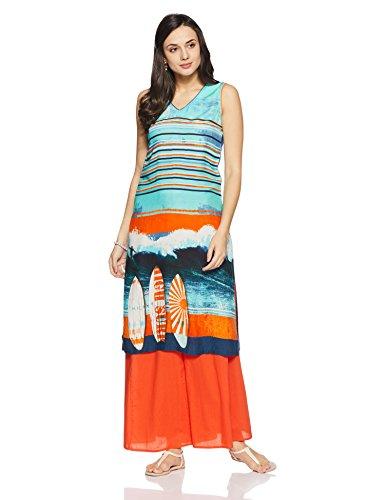 BIBA Women's Straight Kurta (HOLIDAY 12482_turquoise_32)